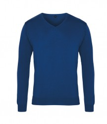 Image 9 of Premier Knitted Cotton Acrylic V Neck Sweater