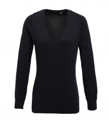 Image 4 of Premier Ladies Knitted Cotton Acrylic V Neck Sweater
