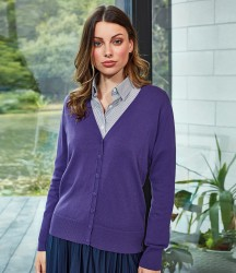 Premier Ladies Cotton Acrylic V Neck Cardigan image