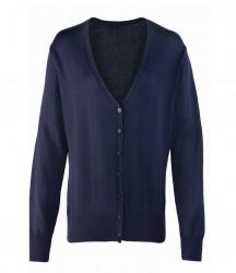 Premier Ladies Cotton Acrylic V Neck Cardigan image
