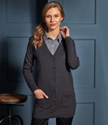 Premier Ladies Long Line V Neck Cardigan image