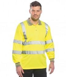Portwest Hi-Vis Long Sleeve Polo Shirt image