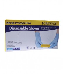 Portwest Powder Free Nitrile Disposable Gloves image