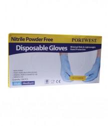 Portwest Powder Free Nitrile Disposable Gloves image