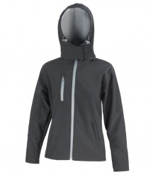 Image 2 of Result Core Ladies Hooded Soft Shell Jacket
