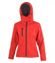 Image 4 of Result Core Ladies Hooded Soft Shell Jacket