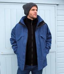 Result 3-in-1 Waterproof Zip and Clip Fleece Lined Jacket image