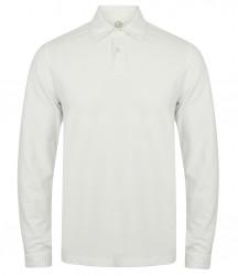 SF Men Long Sleeve Stretch Polo Shirt image