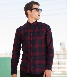 SF Men Brushed Check Casual Shirt image