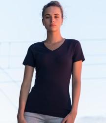 SF Ladies Feel Good Stretch V Neck T-Shirt image