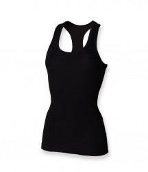 Image 2 of SF Ladies Stretch Rib Racer Back Vest