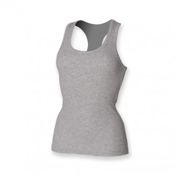 Image 4 of SF Ladies Stretch Rib Racer Back Vest