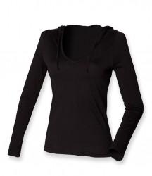 SF Ladies Long Sleeve Hooded T-Shirt image