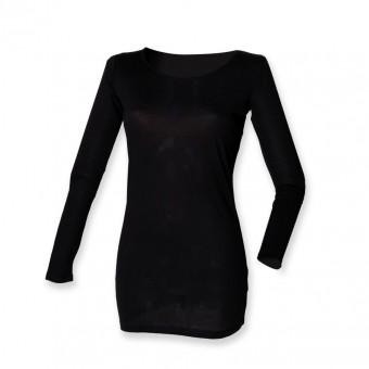SF Ladies Long Line Long Sleeve T-Shirt image
