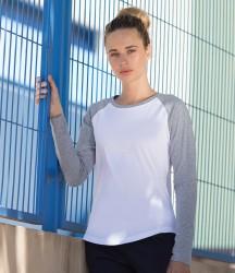 SF Ladies Long Sleeve Baseball T-Shirt image