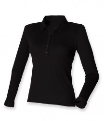 SF Ladies Long Sleeve Stretch Polo Shirt image