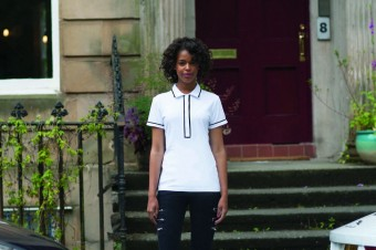 SF Ladies Contrast Piped Cotton Piqué Polo Shirt image