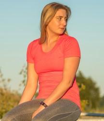 Spiro Ladies Fitness Shiny Marl T-Shirt image