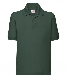 Image 12 of Fruit of the Loom Kids Poly/Cotton Piqué Polo Shirt