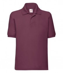 Image 13 of Fruit of the Loom Kids Poly/Cotton Piqué Polo Shirt