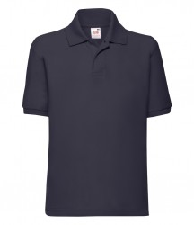 Image 14 of Fruit of the Loom Kids Poly/Cotton Piqué Polo Shirt