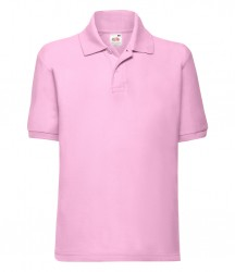 Image 3 of Fruit of the Loom Kids Poly/Cotton Piqué Polo Shirt