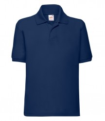 Image 4 of Fruit of the Loom Kids Poly/Cotton Piqué Polo Shirt