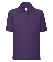 Image 5 of Fruit of the Loom Kids Poly/Cotton Piqué Polo Shirt