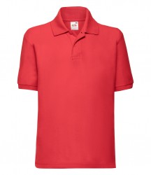 Image 6 of Fruit of the Loom Kids Poly/Cotton Piqué Polo Shirt