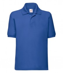 Image 7 of Fruit of the Loom Kids Poly/Cotton Piqué Polo Shirt