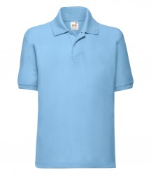 Image 8 of Fruit of the Loom Kids Poly/Cotton Piqué Polo Shirt