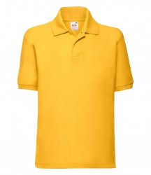 Image 9 of Fruit of the Loom Kids Poly/Cotton Piqué Polo Shirt