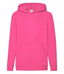 Image 9 of Fruit of the Loom Kids Lightweight Hooded Sweatshirt