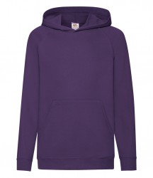 Image 5 of Fruit of the Loom Kids Lightweight Hooded Sweatshirt