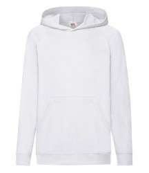 Image 2 of Fruit of the Loom Kids Lightweight Hooded Sweatshirt