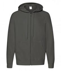 Image 4 of Fruit of the Loom Lightweight Zip Hooded Sweatshirt