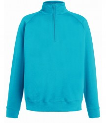 Fruit of the Loom Lightweight Zip Neck Sweatshirt image