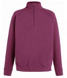 Image 8 of Fruit of the Loom Lightweight Zip Neck Sweatshirt