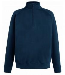 Image 7 of Fruit of the Loom Lightweight Zip Neck Sweatshirt