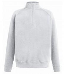Image 2 of Fruit of the Loom Lightweight Zip Neck Sweatshirt