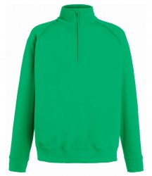 Image 3 of Fruit of the Loom Lightweight Zip Neck Sweatshirt