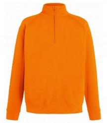 Image 11 of Fruit of the Loom Lightweight Zip Neck Sweatshirt