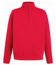 Image 6 of Fruit of the Loom Lightweight Zip Neck Sweatshirt