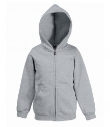 Image 8 of Fruit of the Loom Kids Classic Zip Hooded Sweatshirt