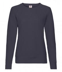 Image 6 of Fruit of the Loom Lady Fit Lightweight Raglan Sweatshirt