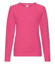 Image 14 of Fruit of the Loom Lady Fit Lightweight Raglan Sweatshirt