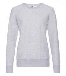 Image 13 of Fruit of the Loom Lady Fit Lightweight Raglan Sweatshirt
