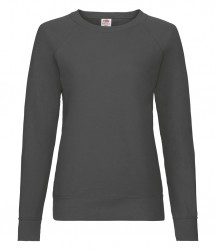 Image 11 of Fruit of the Loom Lady Fit Lightweight Raglan Sweatshirt