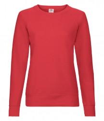 Image 8 of Fruit of the Loom Lady Fit Lightweight Raglan Sweatshirt