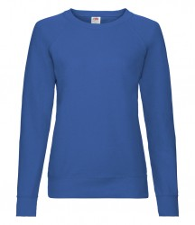 Image 10 of Fruit of the Loom Lady Fit Lightweight Raglan Sweatshirt